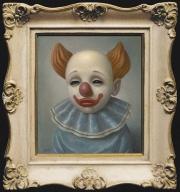 Blue Satin Clown