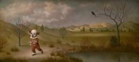 Clown Running Through a Landscape