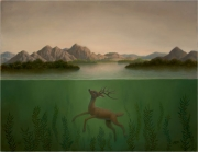 Landscape with Submerged Deer