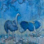 AMNH: Ostrich Diorama