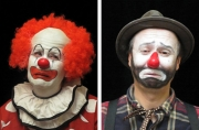 Still images from Pathetic Clown and Bum Clown