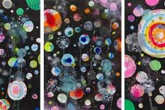 Liz Tran, Moonscape (triptych)