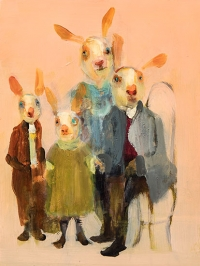 Hare Family (Pink)