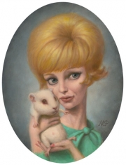 Girl with Guinea Pig
